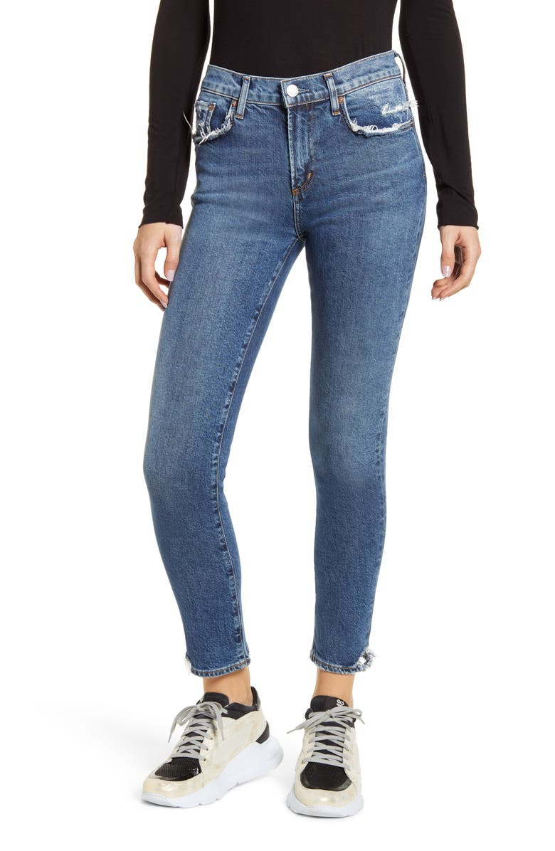 AGOLDE Toni High Waist Ankle Straight Leg Jeans, Main, color, 421