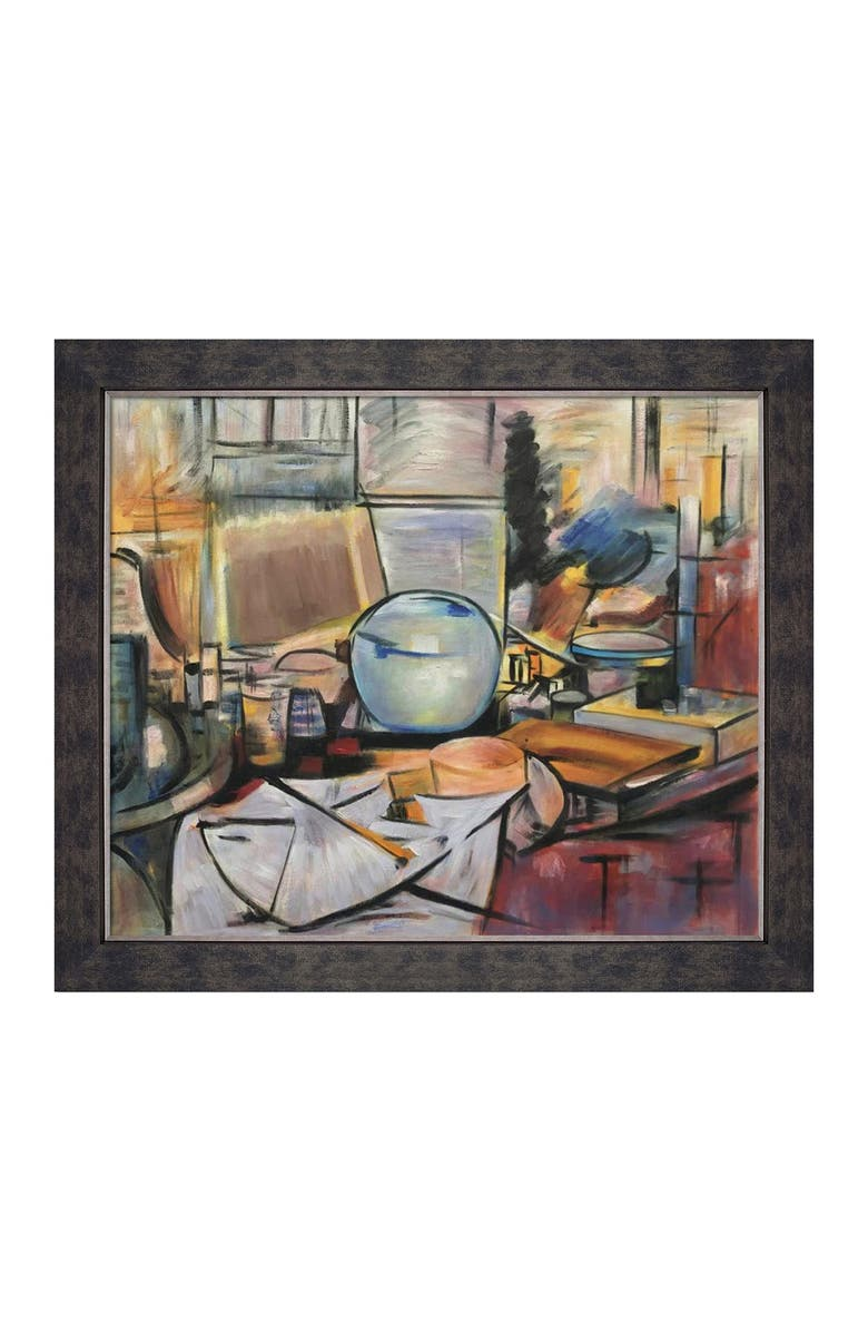 OVERSTOCK ART Still Life with Ginger Pot I - Framed Oil Reproduction of an Original Painting by Piet Mondrian, Main, color, MULTI