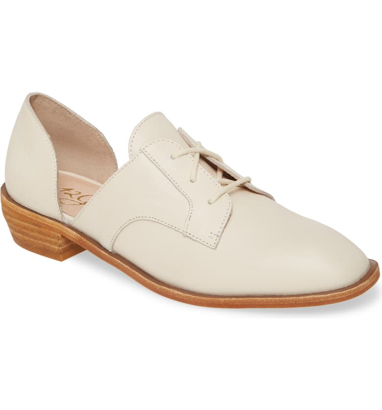 42 GOLD Yours Truly Derby, Main, color, ECRU LEATHER
