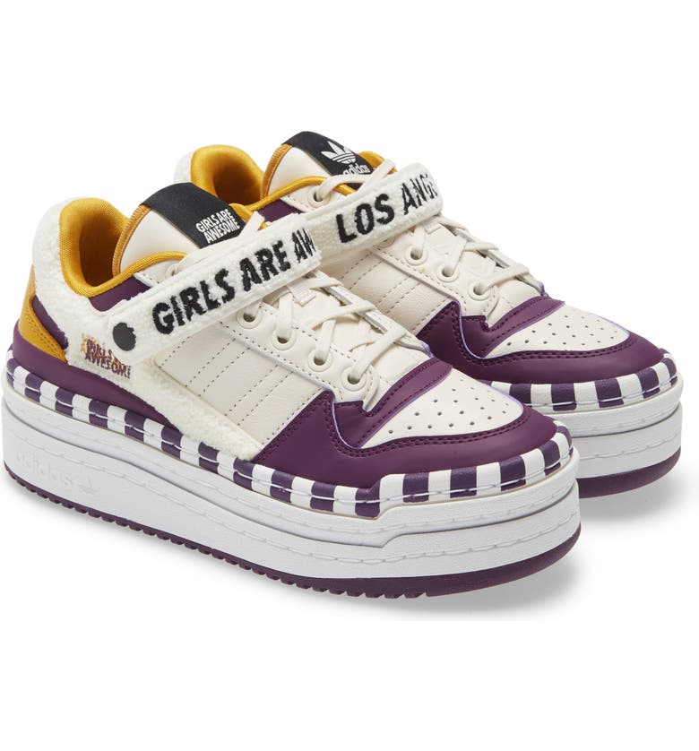 ADIDAS Triple Platforum Lo x Girls Are Awesome Sneaker, Main, color, OFF WHITE/ MAROON/ BLACK
