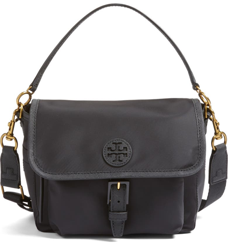 TORY BURCH Scout Nylon Crossbody Bag, Main, color, 001