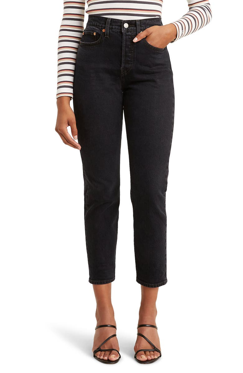 LEVI'S<SUP>®</SUP> Wedgie Icon Fit High Waist Jeans, Main, color, 001