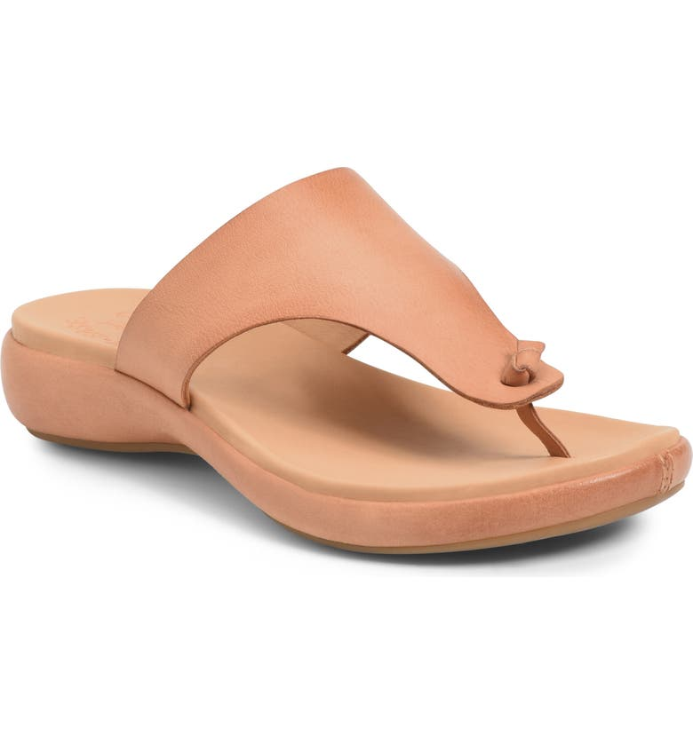 KORK-EASE<SUP>®</SUP> Lil Flip Flop, Main, color, LIGHT TAN LEATHER