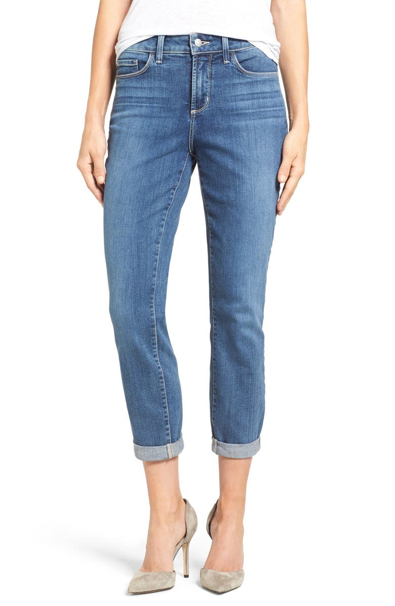 NYDJ Alina Stretch Ankle Jeans, Main, color, HEYBURN