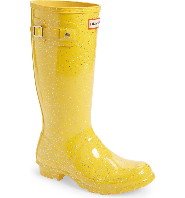HUNTER Original Giant Glitter Waterproof Rain Boot, Main, color, HELIOS