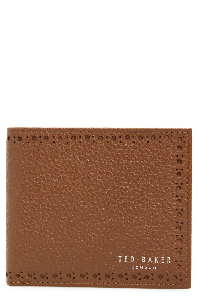 TED BAKER LONDON Leather Wallet, Main, color, TAN