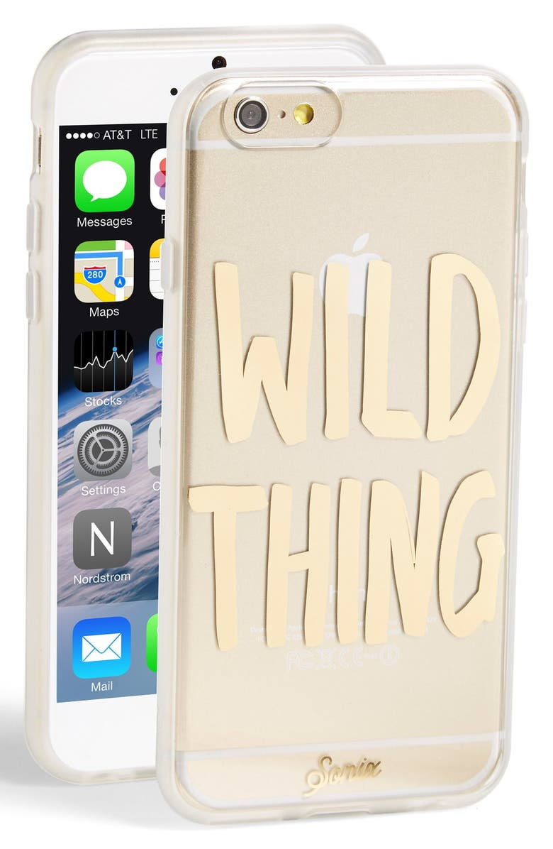 SONIX 'Wild Thing' iPhone 6 & 6s Case, Main, color, Gold