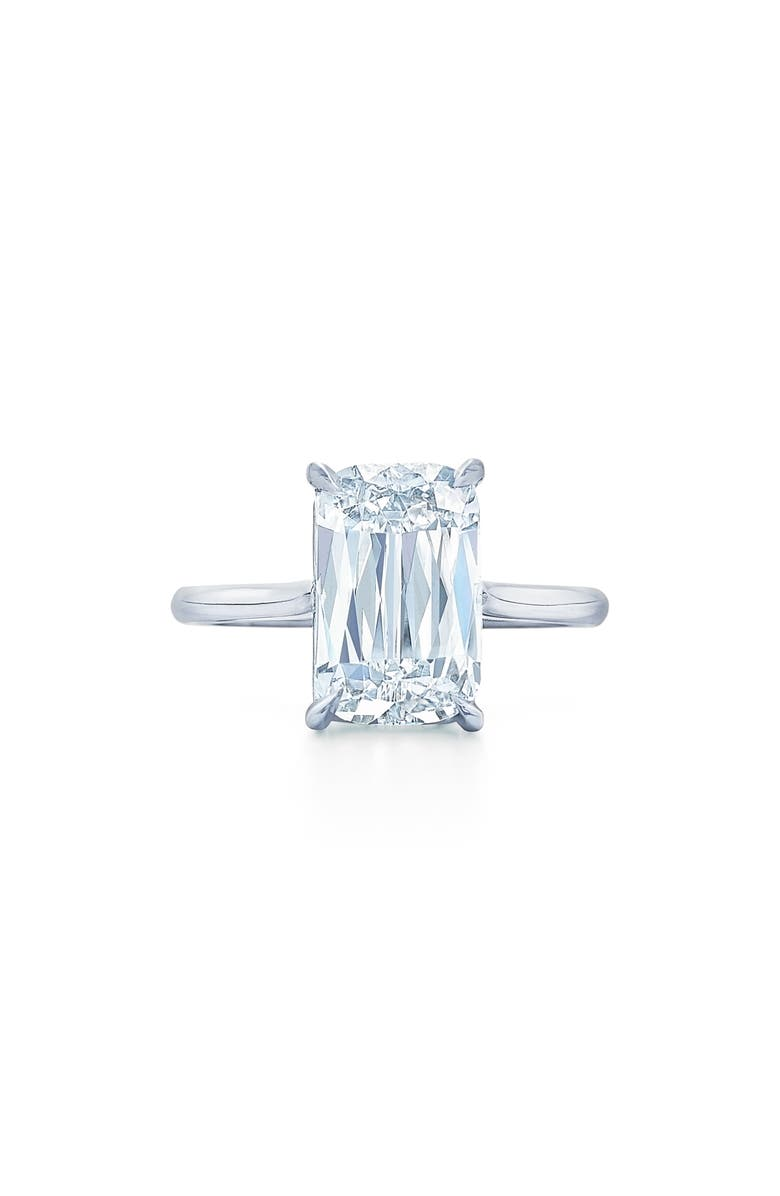 KWIAT Ashoka Cut Diamond Solitaire Platinum Ring, Main, color, PLATINUM