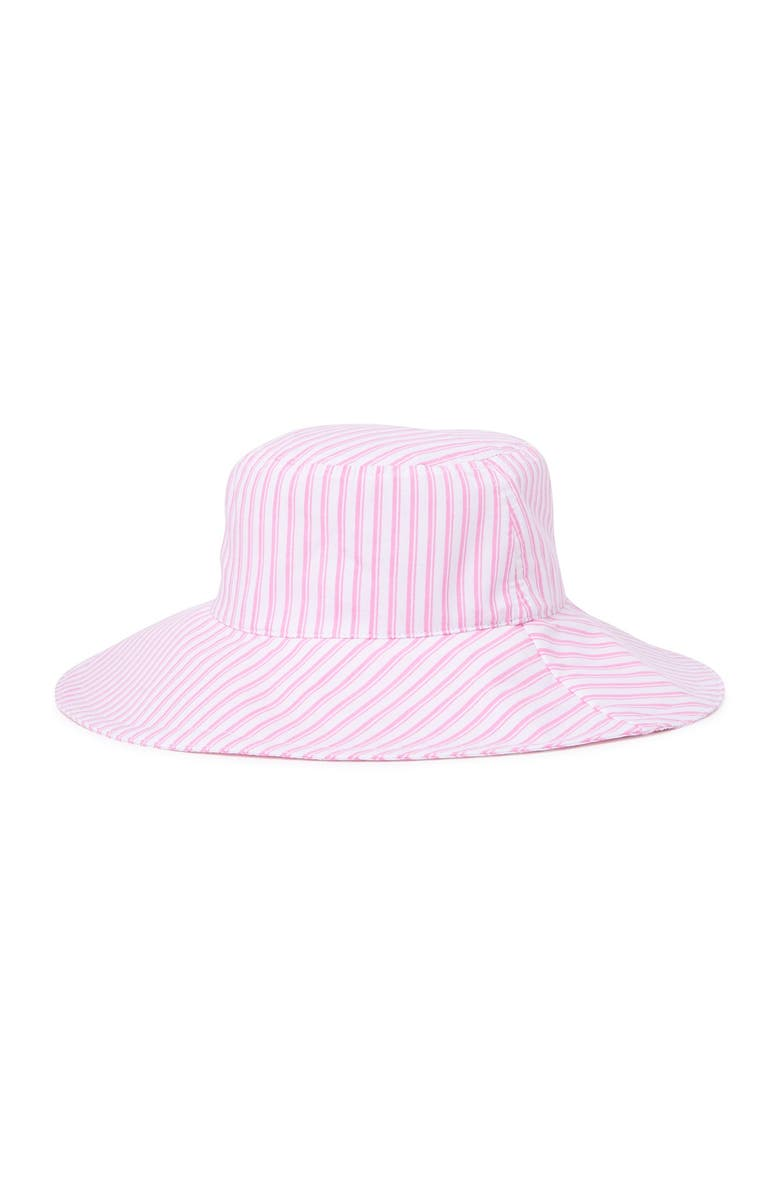 14TH AND UNION Retro Striped Bucket Hat, Main, color, PINK COMBO