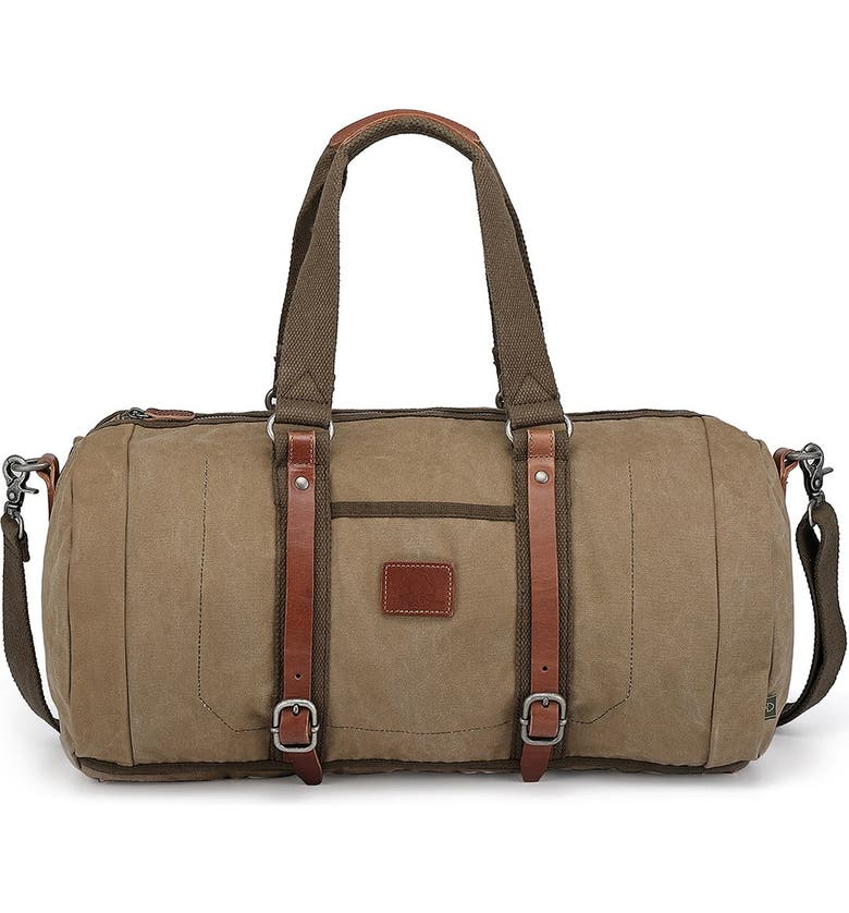 THE SAME DIRECTION Forest Canvas Weekend Bag, Main, color, OLIVE
