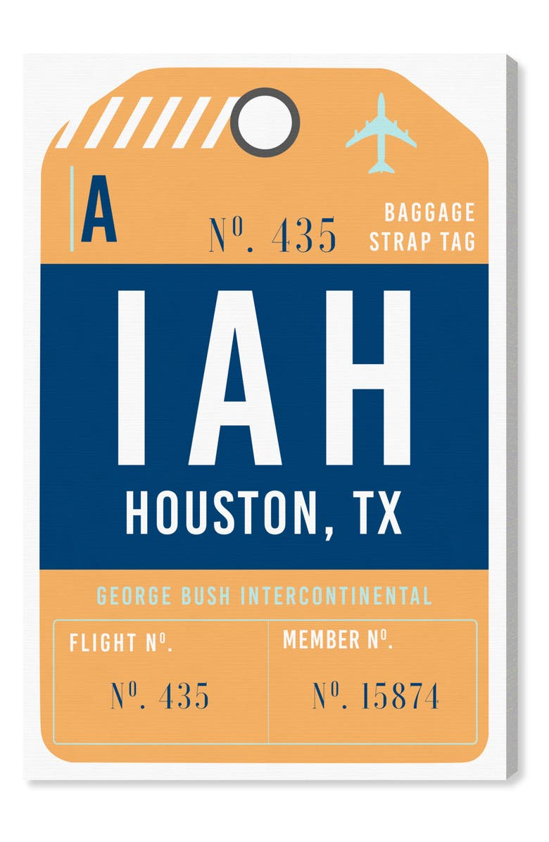 OLIVER GAL Houston Luggage Tag Wall Art, Main, color, 800