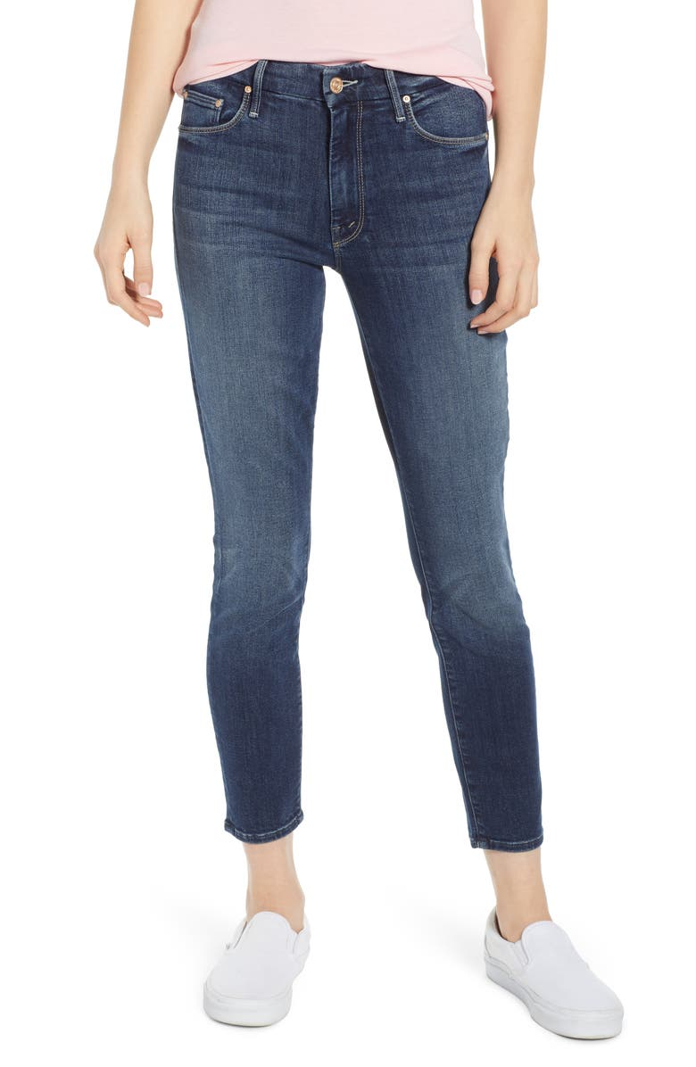 MOTHER 'The Looker' Crop Skinny Jeans, Main, color, 401