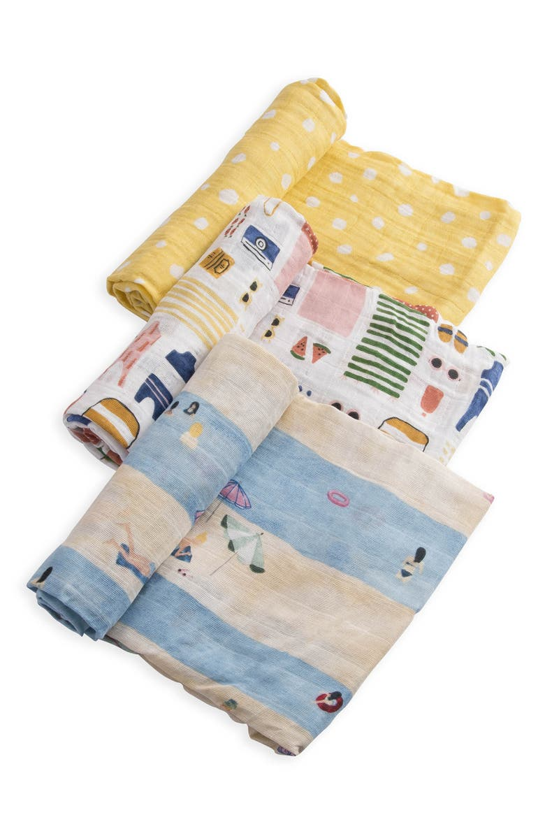 LITTLE UNICORN 3-Pack Cotton Muslin Blankets, Main, color, 101