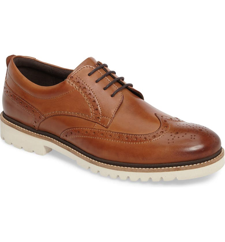 ROCKPORT Marshall Wingtip, Main, color, COGNAC LEATHER