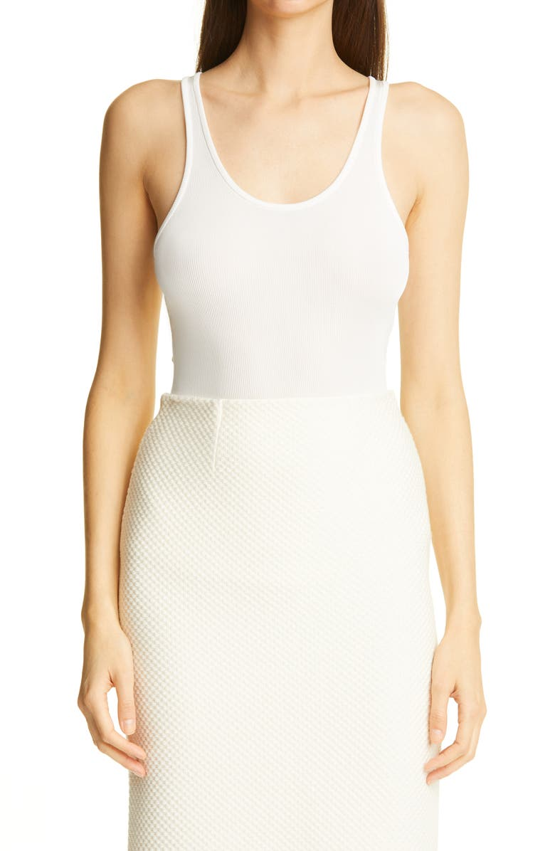 ST. JOHN COLLECTION Rib Tank, Main, color, WHITE