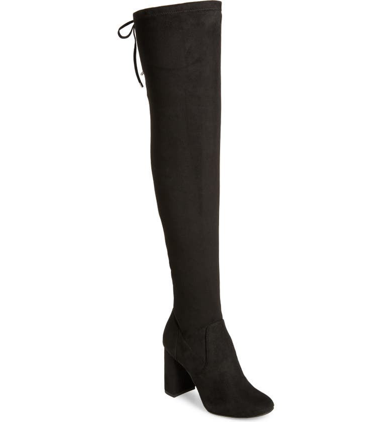 BP. Juniper Over the Knee Boot, Main, color, BLACK FAUX SUEDE