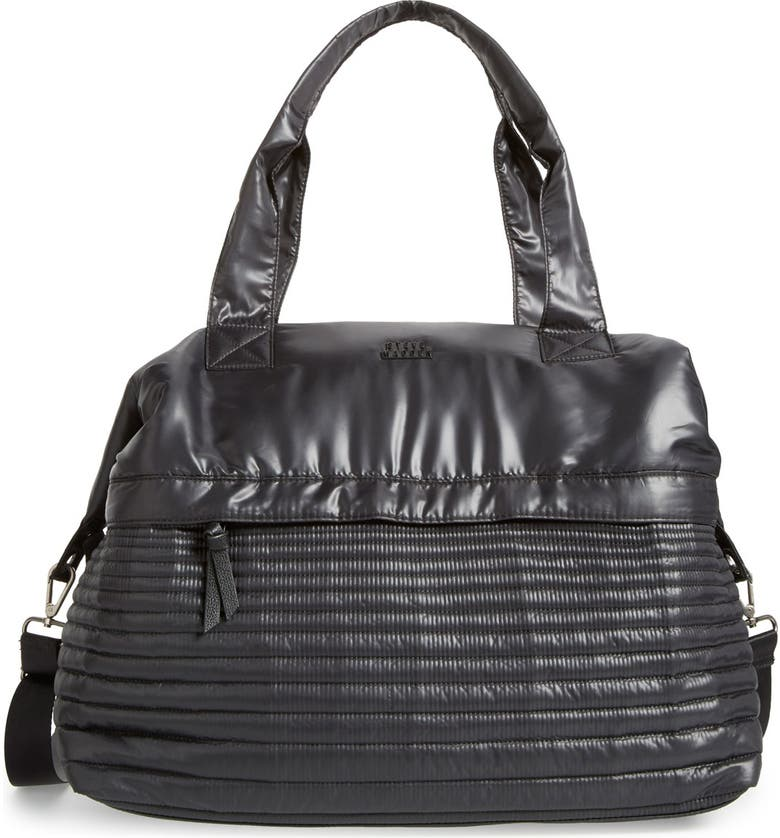 STEVE MADDEN 'Bkeeper' Quilted Nylon Duffel Bag, Main, color, 001