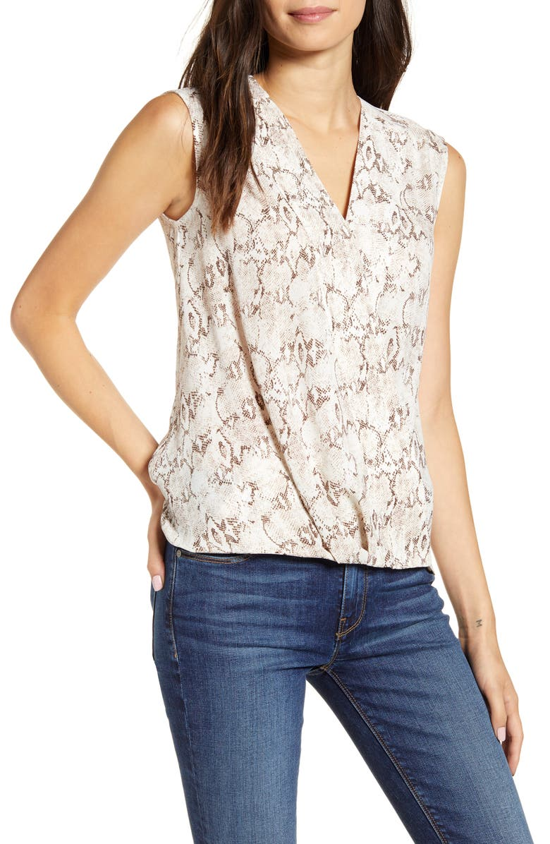 CHELSEA28 Cross Front Sleeveless Top, Main, color, 900