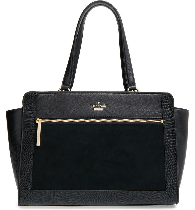 KATE SPADE NEW YORK 'chatham lane - anton' leather tote, Main, color, 001
