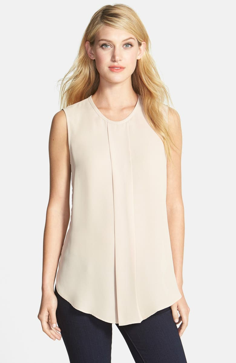 VINCE CAMUTO Center Pleat Sleeveless Blouse, Main, color, 250