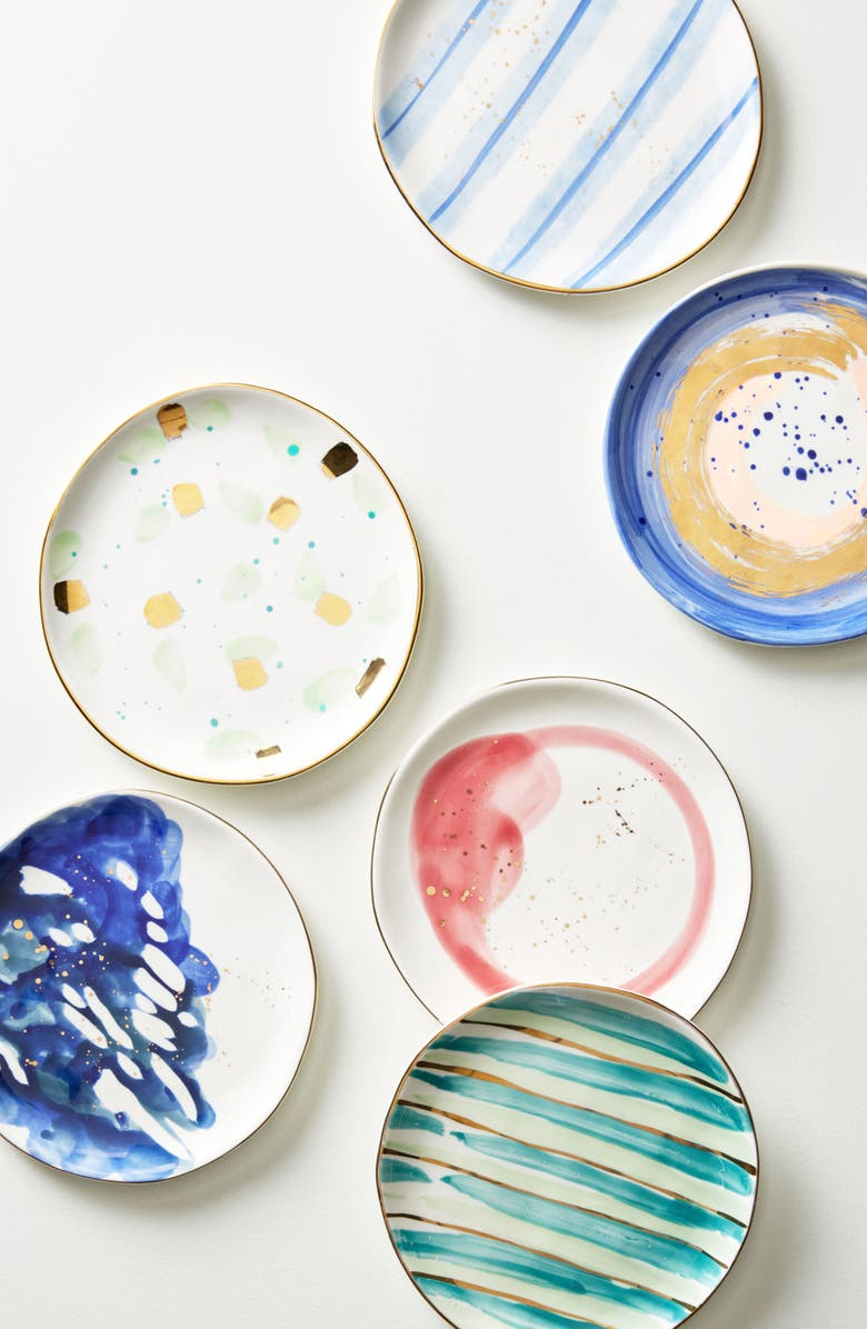 ANTHROPOLOGIE HOME Anthropologie Mimira Canape Plate, Main, color, SAPPHIRE
