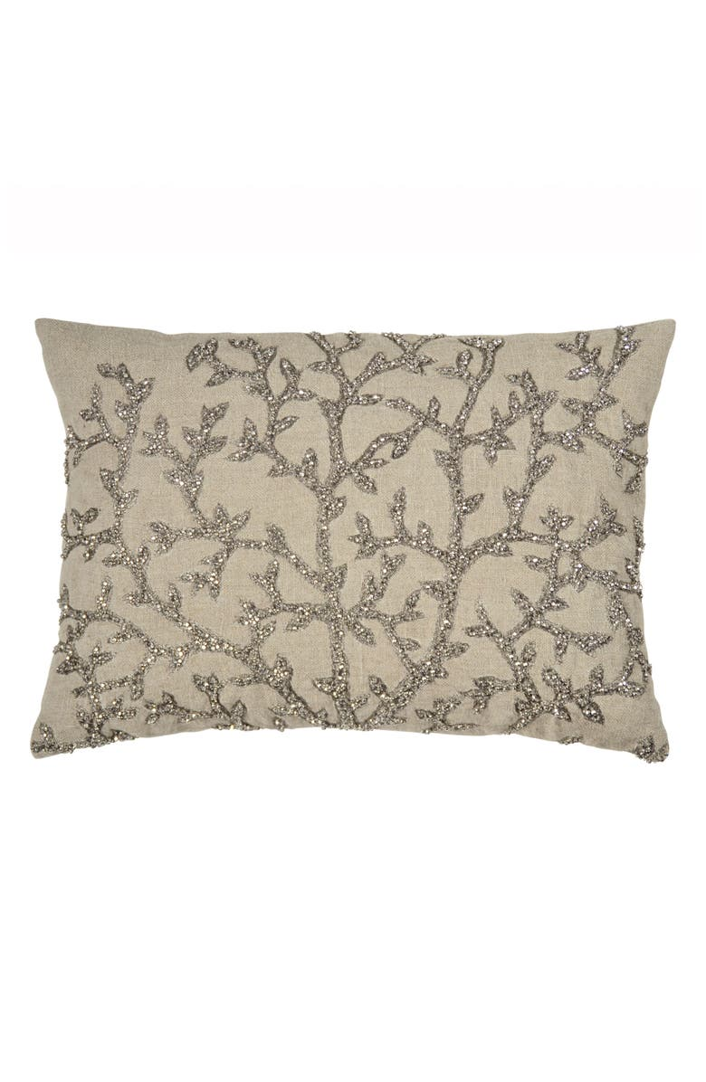 MICHAEL ARAM Tree of Life Beaded Accent Pillow, Main, color, 040