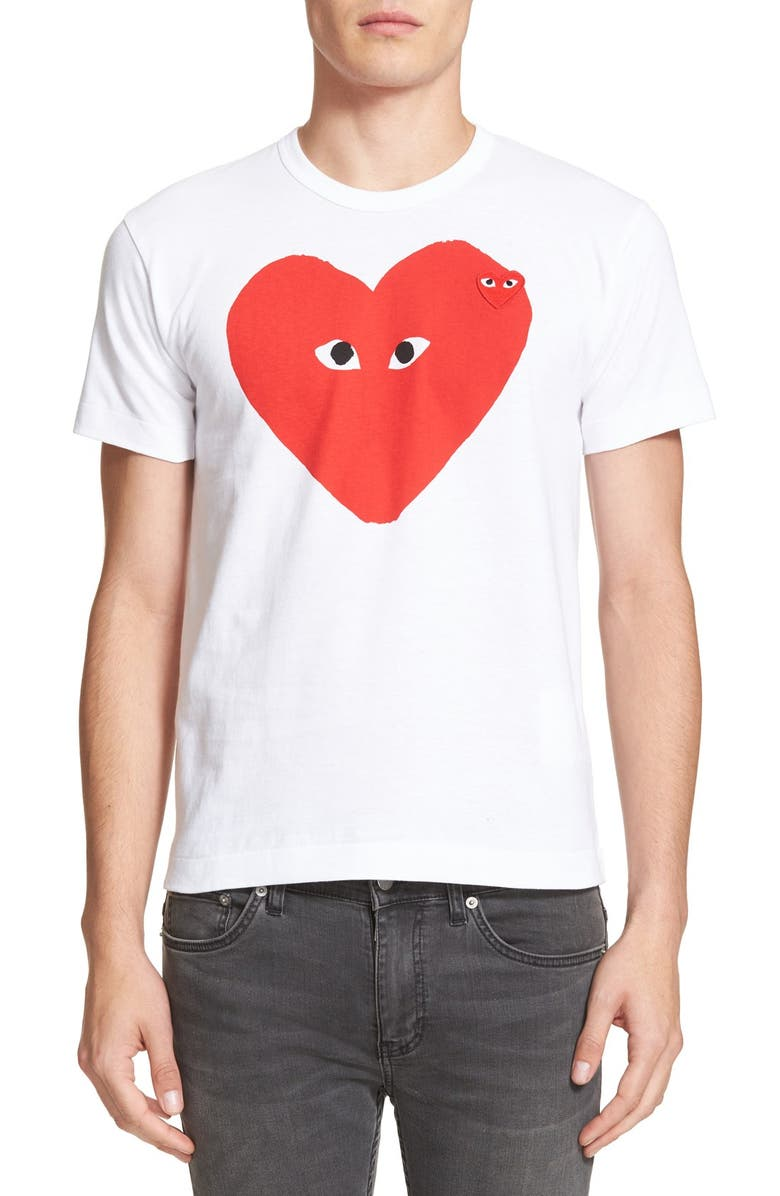 COMME DES GARÇONS PLAY Slim Fit Graphic T-Shirt, Main, color, 100