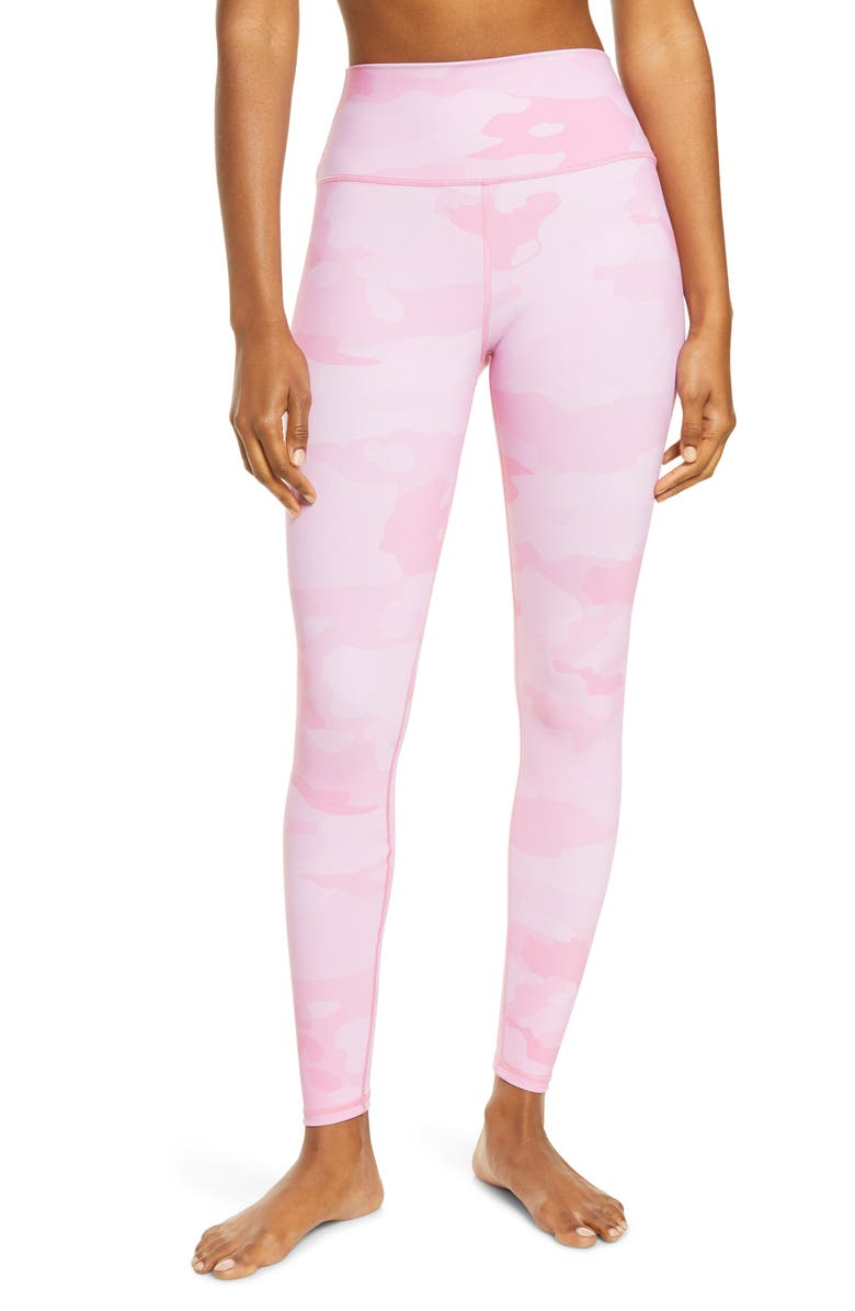 ALO Vapor High Waist Leggings, Main, color, PINK CAMOUFLAGE