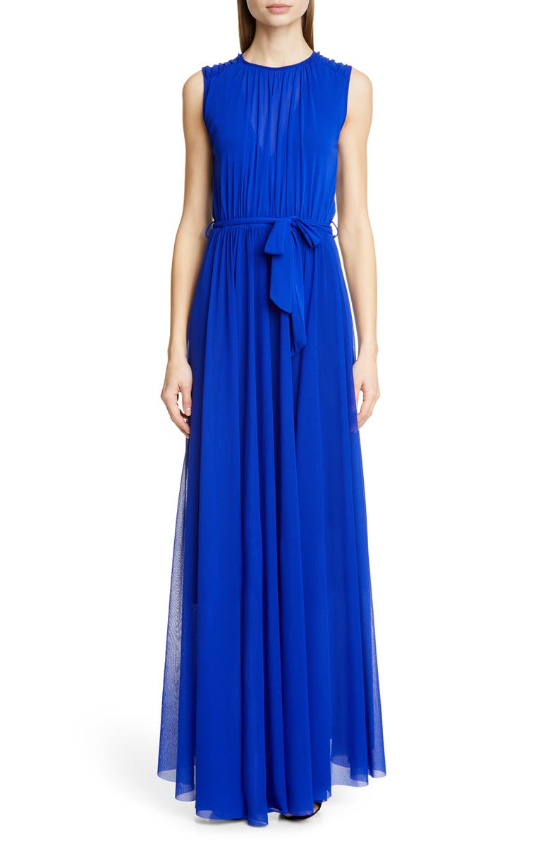 FUZZI Belted Gathered Maxi Dress, Main, color, 400