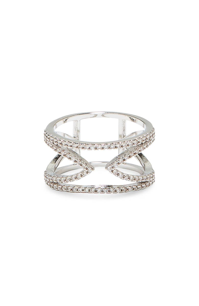VINCE CAMUTO Open-V Pavé Ring, Main, color, 041
