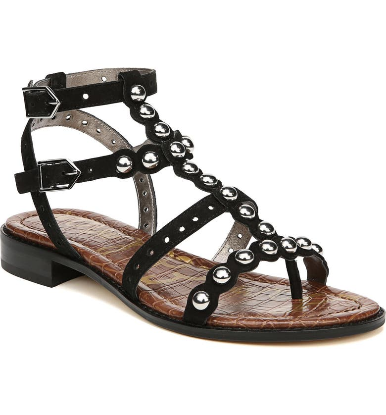 SAM EDELMAN Elisa Studded Gladiator Sandal, Main, color, 002