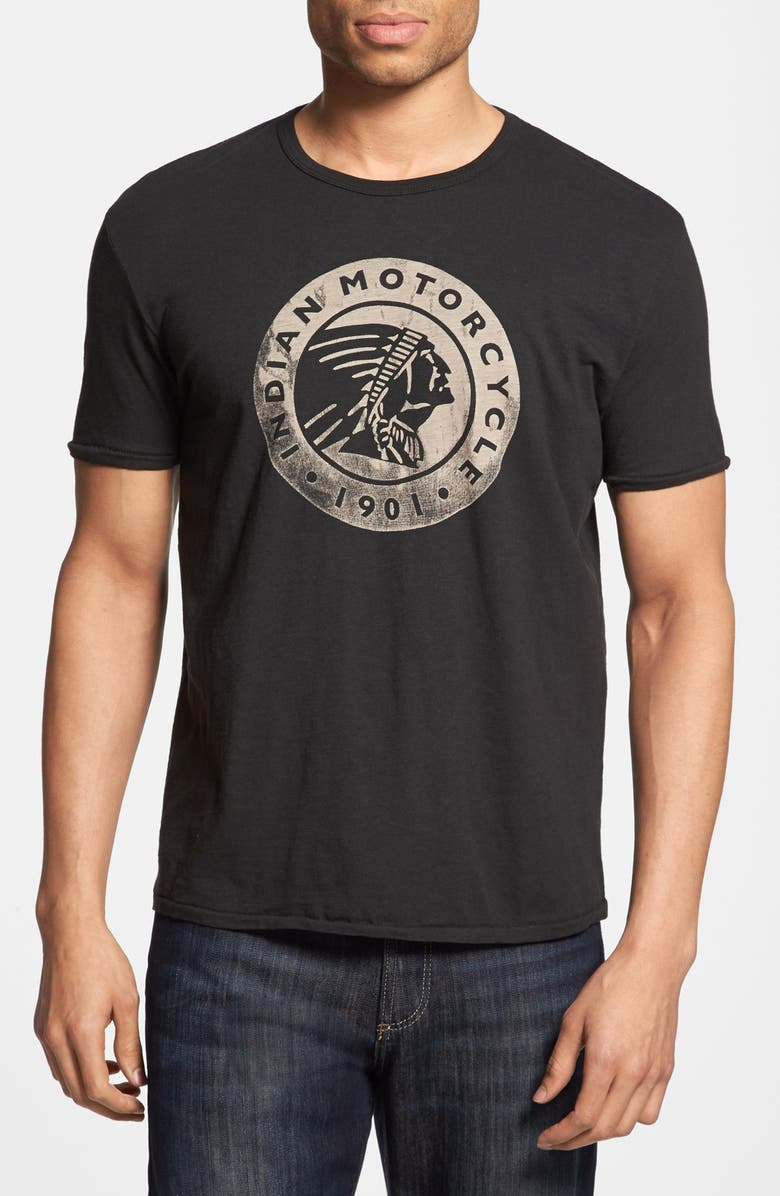 LUCKY BRAND 'Indian Motorcycle' T-Shirt, Main, color, 001