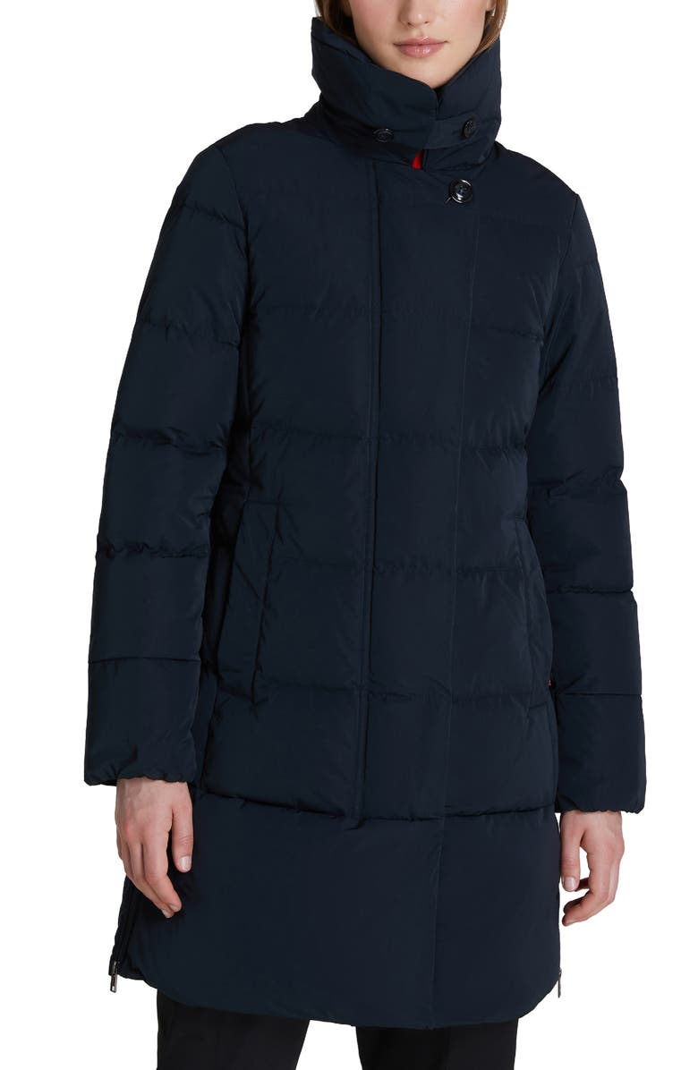 WOOLRICH Vail Water Repellent Quilted Down Coat, Main, color, MIDNIGHT BLUE