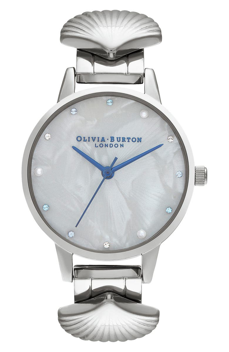 OLIVIA BURTON Mermaid Bracelet Watch, 30mm, Main, color, 040