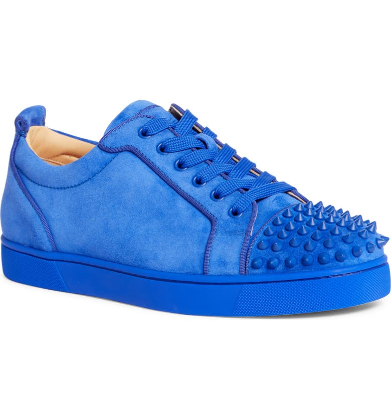 CHRISTIAN LOUBOUTIN Louis Junior Spikes Sneaker, Main, color, BLUE MOGADOR
