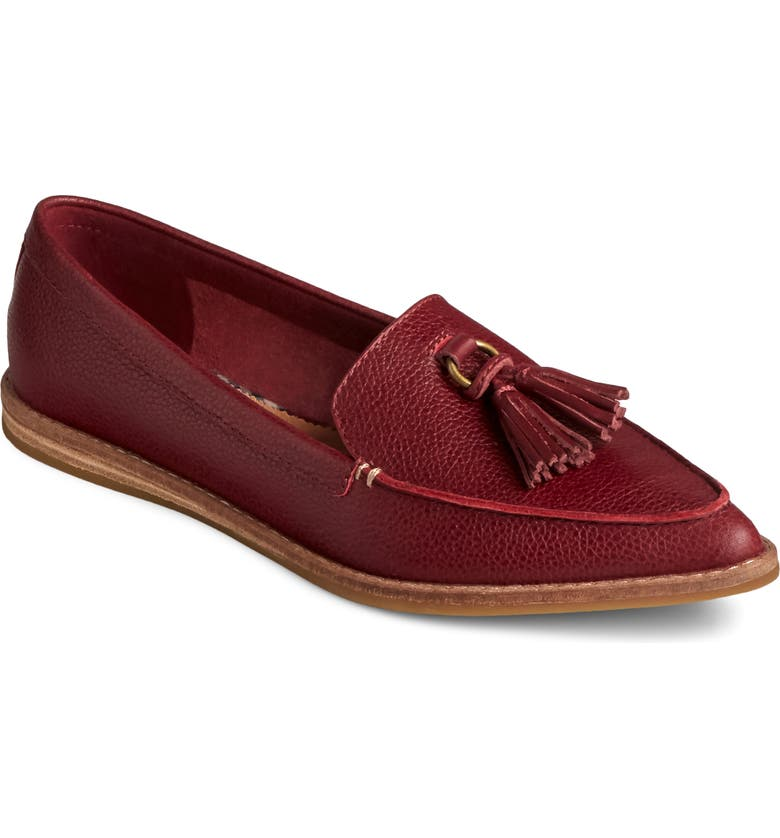 SPERRY Saybrook Loafer, Main, color, CORDOVAN TUMBLED LEATHER