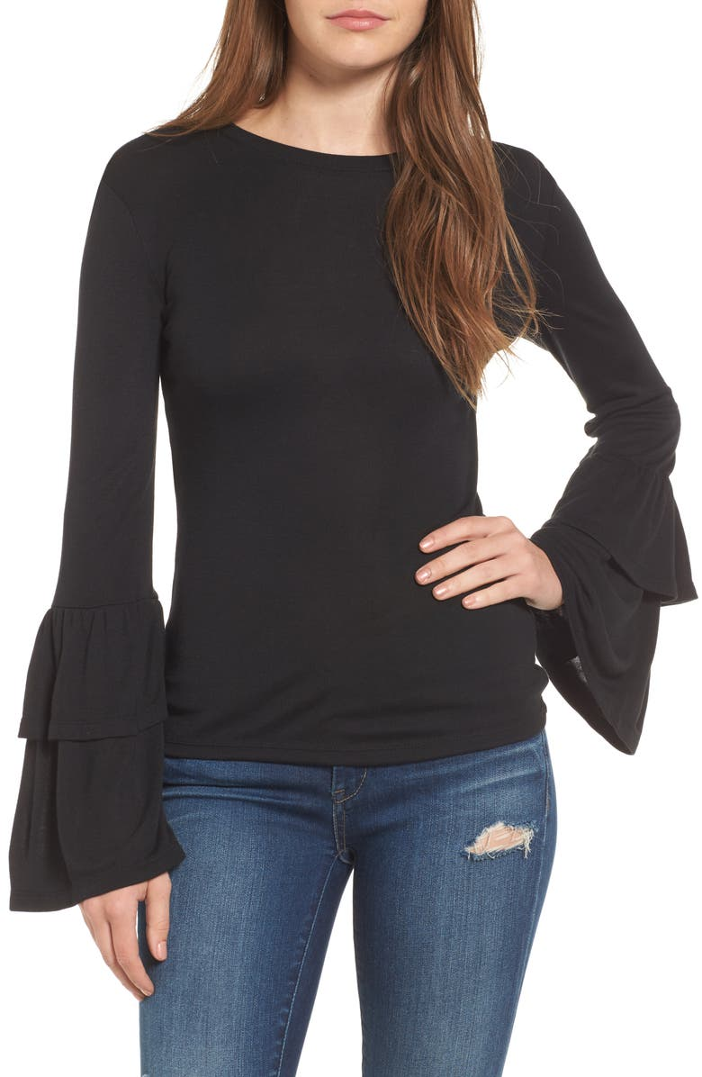 LEITH Bell Sleeve Top, Main, color, 001
