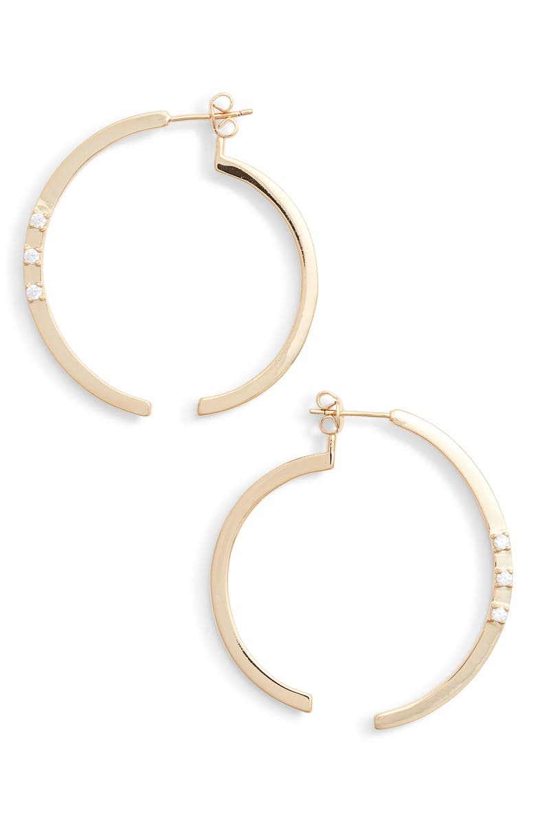 STERLING FOREVER Circle Illusion Hoop Earrings, Main, color, 710