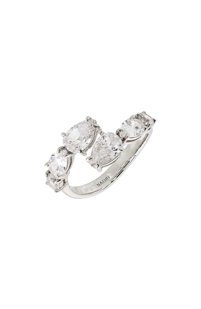NADRI Colette Open Ring, Main, color, RHODIUM