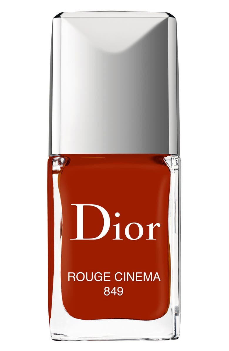 DIOR Vernis Gel Shine & Long Wear Nail Lacquer, Main, color, 849 ROUGE CINEMA