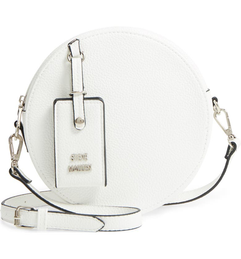 STEVE MADDEN Pebbled Faux Leather Canteen Bag, Main, color, 100
