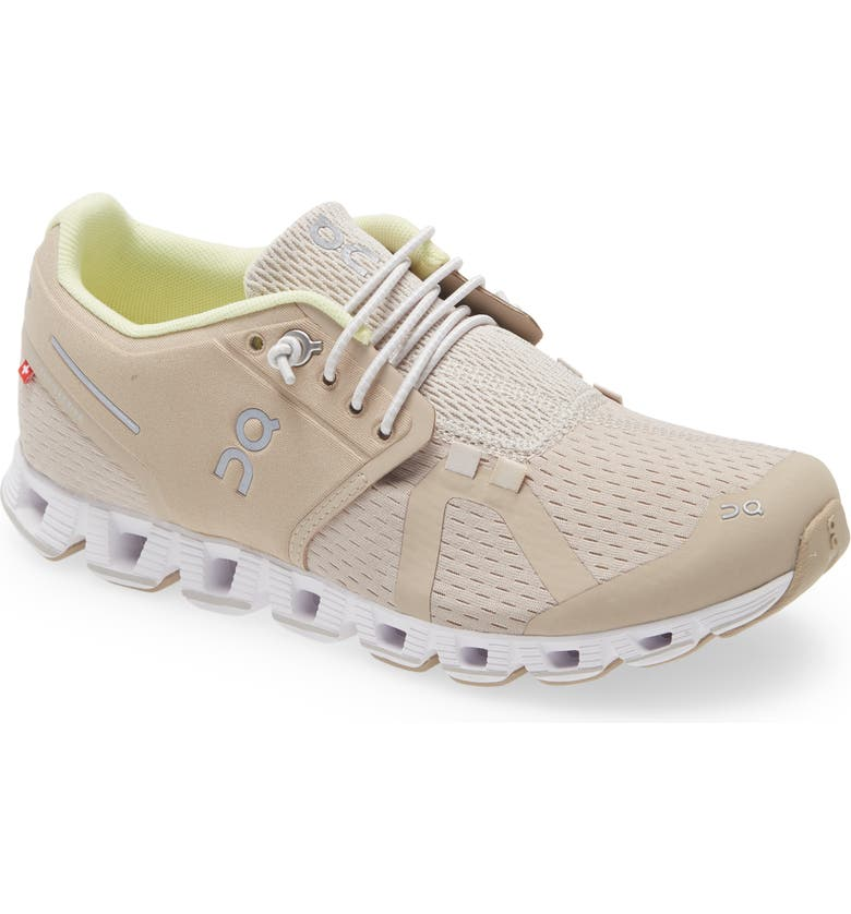 ON Cloud Running Shoe, Main, color, SAND/ PEARL