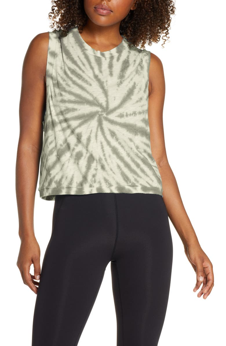 FREE PEOPLE FP MOVEMENT Love Tie Dye Tank, Main, color, ARMY AND AFTERGLOW