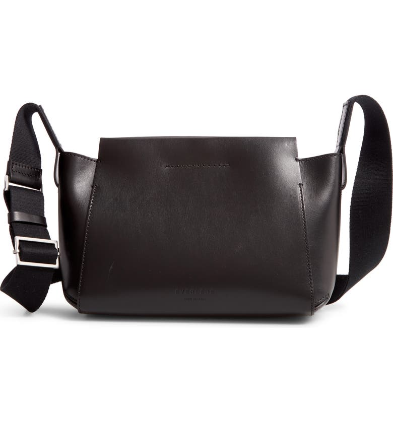 EVERLANE Mini The Form Leather Crossbody Bag, Main, color, 001