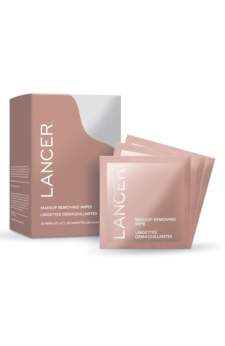 LANCER SKINCARE Makeup Removing Wipes, Main, color, No Color