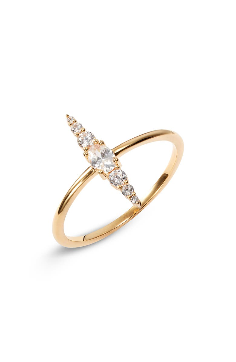 NORDSTROM Stacked Stone Ring, Main, color, CLEAR- GOLD