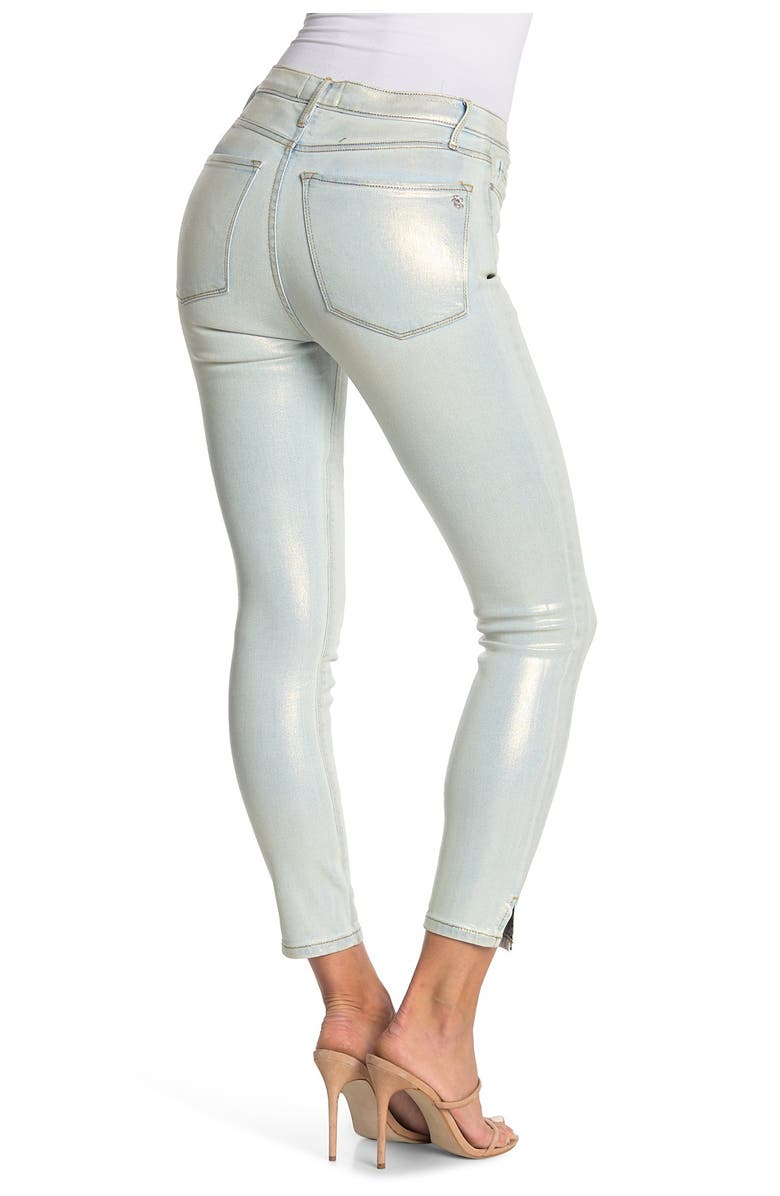 BLACK ORCHID Kate Super High Rise Glimmer Jeans, Main, color, BLEACHLESS
