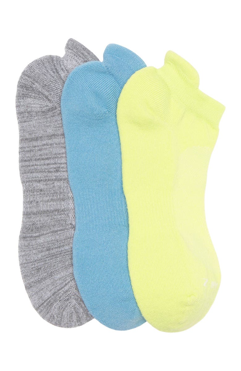 Z BY ZELLA Back Tab Sport Socks - Pack of 3, Main, color, TEAL DOLPHIN