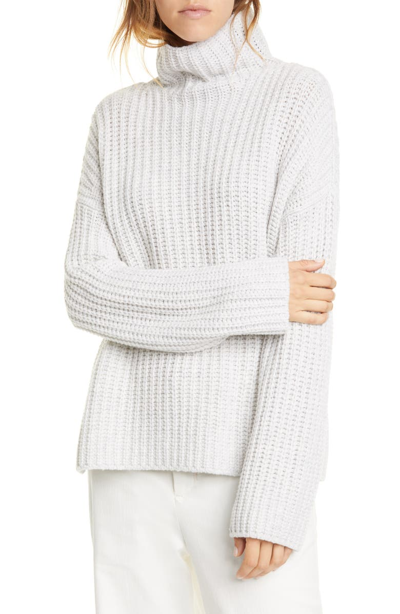 VINCE Lofty Wool Blend Funnel Neck Sweater, Main, color, 062