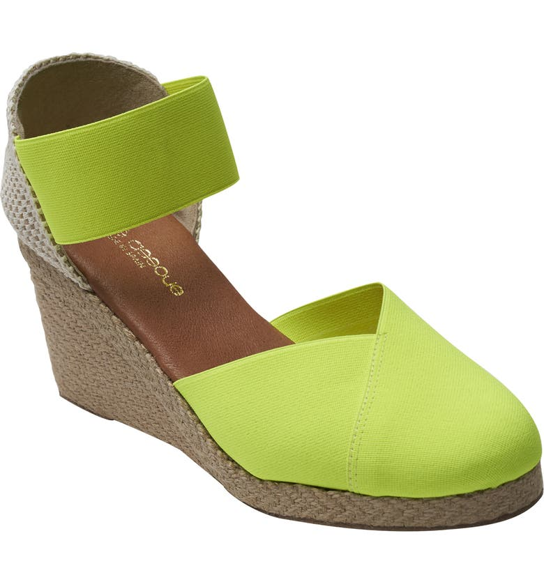 ANDRÉ ASSOUS Anouka Espadrille Wedge, Main, color, NEON YELLOW FABRIC